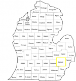 Location of Oakland county